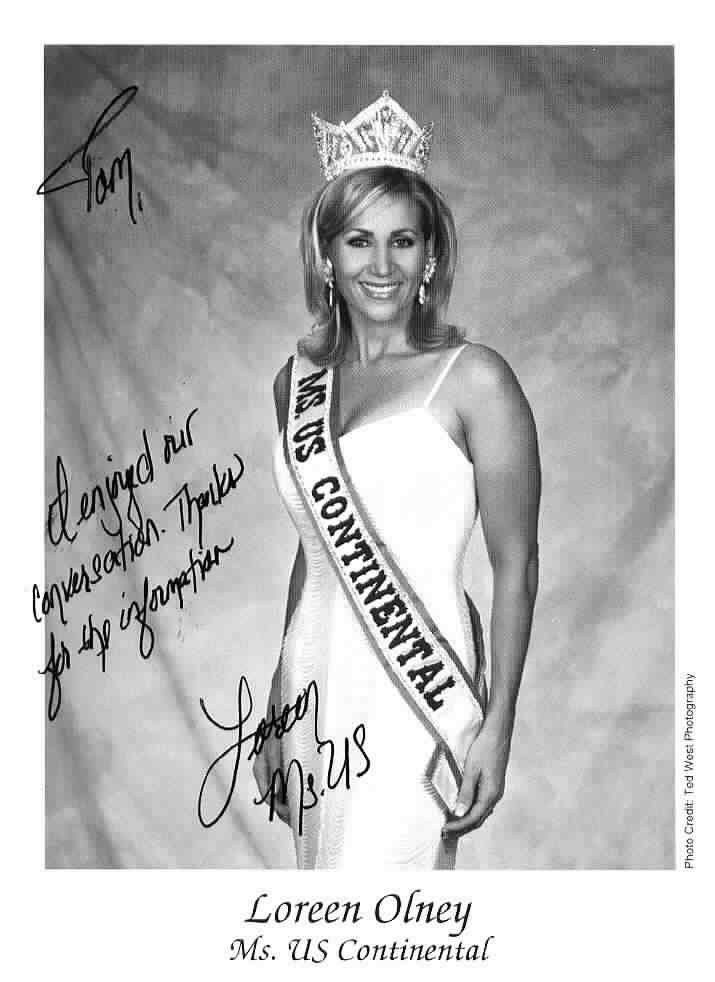 Click to website for Loreen Olney, Miss US Continental 2003-2004
