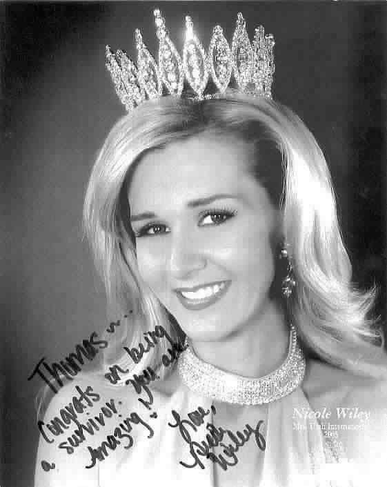 Mrs Utah -- A gorgeous and wonderful Mother and young Cancer sufferer -- Click to see full story and enlarged view